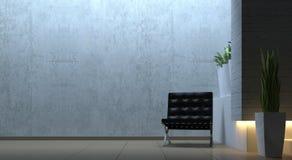 与椅子的现代内部场面 免版税库存图片