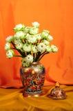 与植物群的陶瓷器 免版税图库摄影