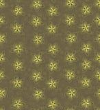 与概述黄色花的无缝的纹理 免版税库存图片