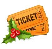 与槲寄生的圣诞节票 库存图片