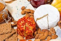与模子和快餐,顶视图的纤巧乳酪 图库摄影