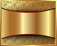 与模式2的金属金背景 免版税库存图片