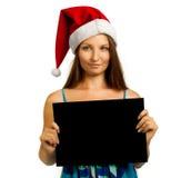 与横幅的圣诞老人辅助工 免版税库存图片