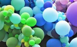 与横幅的气球 免版税库存照片
