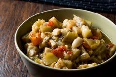 与橄榄油/Zeytinyagli Patlica的土耳其食物茄子沙拉 库存照片