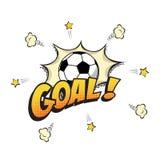 与橄榄球球的目标词在动画片或漫画书样式 也corel凹道例证向量 皇族释放例证