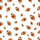 与橄榄球的无缝的样式 免版税库存照片