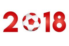 与橄榄球象的新年2018年 库存照片