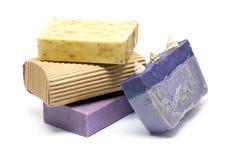 与橄榄色的肥皂的巴恩成套工具, 库存图片