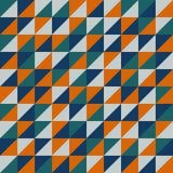 与橙色三角的无缝的传染媒介样式 皇族释放例证