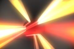 与橙色光的红色漩涡 免版税库存图片