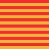 与橙色和红色水平的条纹的无缝的样式 图库摄影
