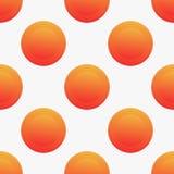与橙色圈子的无缝的传染媒介样式 库存照片