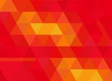 与橙色渐进性的红色三角测量摘要背景 免版税图库摄影
