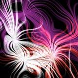 与橙色照明设备的巨型的紫色闪光 向量例证