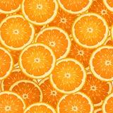 与橙色片式的无缝的背景。 向量例证