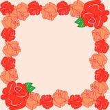 与橙色玫瑰的框架 图库摄影