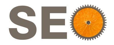 与橙色链轮的Seo概念 库存例证