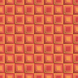 与橙色3d正方形的无缝的样式 库存图片