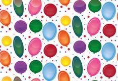 与欢乐气球的无缝的纹理在白色背景 皇族释放例证