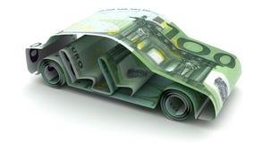 与欧元的汽车财务 库存例证