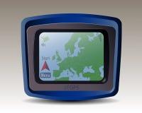 与欧洲地图的GPS  库存照片
