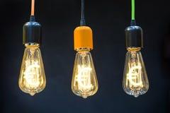 与欧洲符号的电灯泡 库存图片
