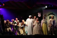 与歌剧的假日会议在Hucul小马Gladyszow育马场在Regietow 波兰 免版税库存照片