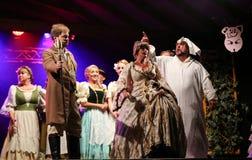 与歌剧的假日会议在Hucul小马Gladyszow育马场在Regietow 波兰 免版税图库摄影