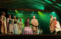 与歌剧的假日会议在Hucul小马Gladyszow育马场在Regietow 波兰 图库摄影