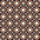 与正方形和圈子的无缝的抽象样式 皇族释放例证