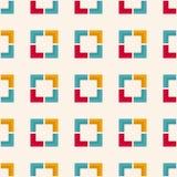 与正方形和有角的形状的无缝的几何样式 免版税图库摄影