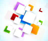 与正方形的五颜六色的设计 免版税图库摄影