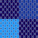 与正方形的几何样式在蓝色颜色 免版税图库摄影