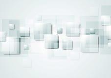 与正方形的抽象灰色高科技背景 向量例证