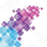 与正方形的抽象设计 免版税库存照片