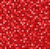 与正方形的无缝的抽象样式在红颜色 传染媒介几何背景 免版税库存照片
