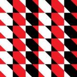 与正方形的无缝的样式由对角条纹划分了 免版税库存照片