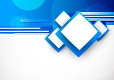 与正方形的蓝色backgroun 免版税库存照片
