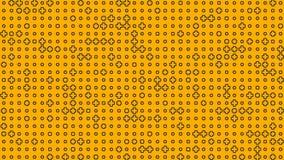 与正标志的动画的抽象黄色背景 3d翻译 4K,超HD决议 皇族释放例证