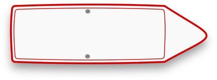 与正确的方向的白色空的红色框架牌 皇族释放例证