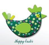 与母鸡的复活节卡片 免版税库存图片