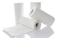 与毛巾纸卷的构成 免版税库存图片