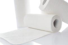 与毛巾纸卷的构成 图库摄影