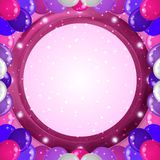 与气球框架的假日背景 库存照片