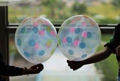 与气球的党概念 免版税库存照片