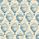 与气球的无缝的背景 向量例证