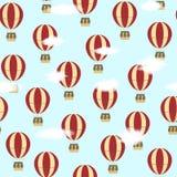 与气球的样式 免版税库存图片