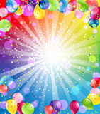 与气球的欢乐背景 免版税库存图片