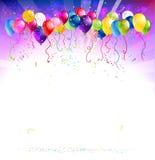 与气球的欢乐背景 免版税库存照片